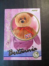 Ty Beanie Babies Series III S3 Limited Edition Britannia Tear A Bear Card
