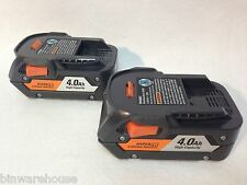 TWO RIDGID R840087 NEW  AC840087 LI-ION BATTERIES 4.0Ah High Capacity Hyper