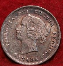1898 Canada 5 Cents Silver Foreign Coin