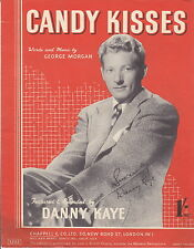 SHEET MUSIC DANNY KAYE CANDY KISSES WORDS AND MUSIC BY GEORGE MORGAN