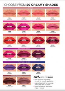 Avon Mark Epic Lipstick with built in PRIMER...lots of shades..samples available