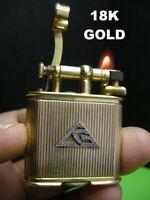 DUNHILL UNIQUE A SIZE LIGHTER 18K GOLD AND BRILLIANT BRIQUET ACCENDINO