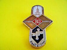 RARE Olympic Pin 1980 '80 Moscow Russia Olympiad XXII Moscova Mockba USSR Soviet