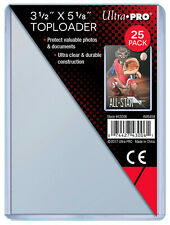 "1 Pack of 25 Ultra Pro 3.5"" x 5"" Toploaders (Index Photo Postcards) Card Holder"