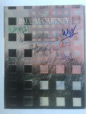 Paul McCartney signiert Linda Beatles 6x signed Unterschrift Signatur Autogramm