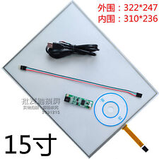 """15"""" 4-wire resistive touch screen panel kit TFT display"""
