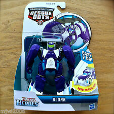 Transformers RESCUE BOTS BLURR Race Car PLAYSKOOL HEROES Hasbro Recruit purple