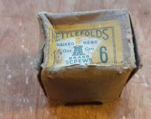 "Vintage Nettlefolds 1"" x 6 Raised Head Brass Screws One Gross"