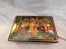"Vintage Asian Jewelry Box 5"" x 3.5"""