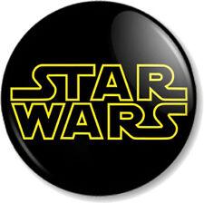 "STAR WARS Title Logo 25mm 1"" Pin Button Badge Star Wars Movie Film George Lucas"