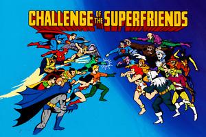 Challenge of Superfriends Vintage Superhero Batman Superman Poster 24x36 inches