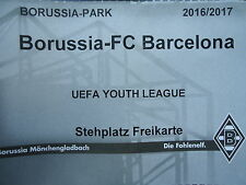 TICKET UEFA Youth League 2016/17 Mönchengladbach - FC Barcelona
