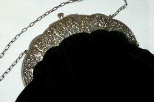 Alte silberne Tasche Putto Engel 800 Silber Damentasche Putten Handtasche silver