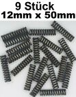 9x Spring Compression Tension 0 15/32x1 31/32in Modelmaking Repair Spiral