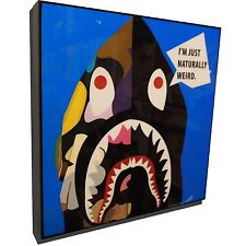 BAPE Art Poster Plaque Arcylic Painting Print Home Decor Framed Canvas
