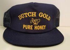 vintage DUTCH GOLD PURE HONEY Trucker Hat snapback Beekeeping hipster cap bee
