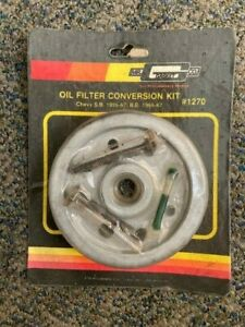 NOS Mr Gasket 1270 Chevy Can Style to Spin on Oil Filter Conversion Kit