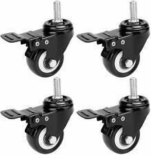 Homdox 2'' Swivel Casters Wheels Stem Break Casters with Brake 4 Pack Heavy Duty