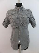 Rivamonti by Cucinelli long tricot veste tournant veste avec brassards taille M LAINE & MOHAIR