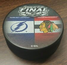 Vintage 2015 Stanley Cup Final NHL Hockey Puck Chicago Blackhawks Vs Lightning