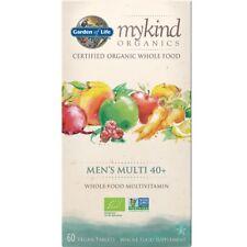 Jardín de la vida mykind Organics para hombres 40+ 60 Tapas de múltiples