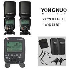 Yongnuo YN600EX-RT II TTL Speedlite Flash ×2 + YN-E3-RT Transmitter for Canon