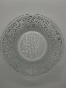 "EAPG Clear 8"" Glass Bowl - Poinsettia Pattern EUC"