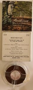 Beethoven Violin Concerto - Reel to Reel Music Tape - TT310