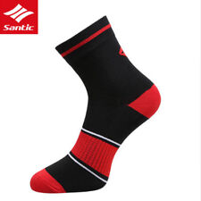 Santic Men Cycling Socks Running Breathable One Size Anklet Socks 1 Pair Red