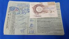 Old Vintage French Touring Club Receipt from France 1952