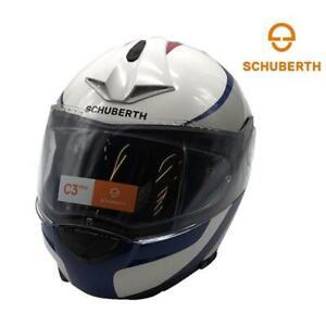 Motorcycle Helmet Modular Fiber Glass SCHUBERTH C3 PRO Sextant White/Blue Gloss