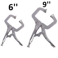 "Locking C-Clamp Pliers 6""/9"" Vice Grip Easy Quick Release Micro-Adjustment QL"