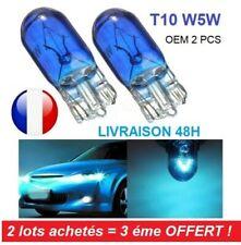 Paire T10 W5W Bleu Phare Ampoule Halogène Clignotant Turn Signal Auto TDB