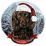 Holiday Pet Gifts Boykin Spaniel Brown Dog Santa Hat Porcelain Ornament