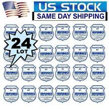 24 BRINKS ADT HOME SECURITY ALARM SYSTEM DOOR WINDOW WARNING STICKER DECALS