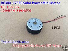 DC 1.5v-6v 3v 6v mini 300 solar motor small micro round motor para fan CD Player