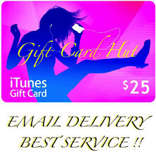 Apple $25 iTunes US Gift Card Karte Code Voucher Certificate USA Dollar FAST
