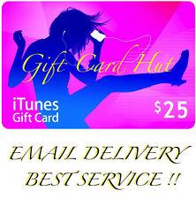 Apple $25 iTunes US Gift Card Karte Code Voucher Certificate USA Dollar FAST