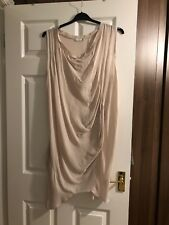 Made in Italy Lagenlook Pink Silk Asymmetric Dress/Long Tunic size XL (16/18)