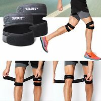 AOLIKES Double Patellar Knee Support Brace Tendon Band Joints Padded Protector