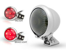 Chrome LED Stop Taillight for Retro Vintage Project Custom Motorbike
