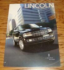 Original 2007 Lincoln Navigator Deluxe Sales Brochure 07
