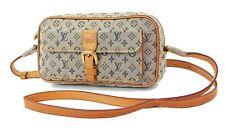 Authentic LOUIS VUITTON Juliette MM Blue Monogram Mini Lin Shoulder Bag #36377