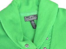 Women's Lauren Active Green Knit Pullover Sweater Collar Size XL