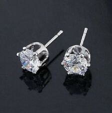 CZ Crystal Ear Studs Pair of Earrings 4mm Pretty Crystal