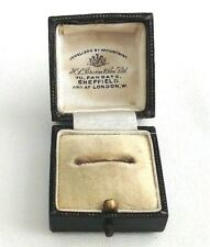 Vintage antique H L Brown ring Jewellery display box Sheffield