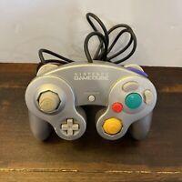 OEM Nintendo GameCube Controller Silver DOL-003 Tested Official Platinum