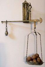 Antique, Primitive, Old Hanging Metal Cast Iron Balance Scale - Miniature