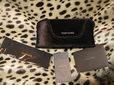 Tom Ford Deep Chocolate Velvet Eyeglass Sunglasses Case only authenticity card
