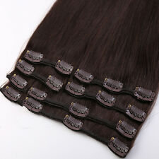 "100% Virgin Colours Clip in Remy Real Human Hair Extensions 20""Best Choice SU469"